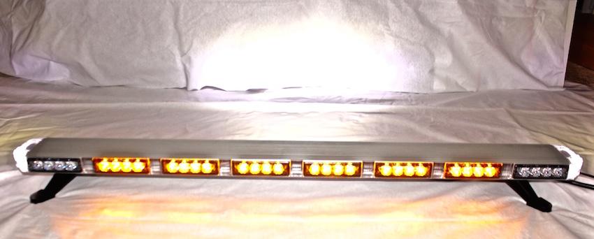 """47"""" Amber LED Light Bar Warning Light Emergency Lightbar"""