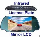 CCD License Plate Mount Camera & TFT LCD Mirror Monitor