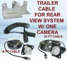 Rear View Camera System Trailer Cable With 7-Contact Plug & Socket