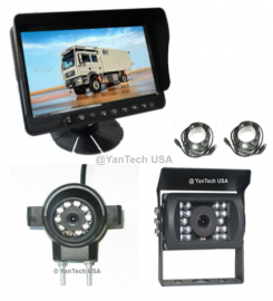 """5"""" LCD Color Rear View Backup Camera System with 2 CCD Camera 700 TVL (Front View and Back View)"""