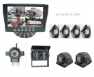 QUAD REAR VIEW BACKUP CAMERA SYSTEM WITH 7