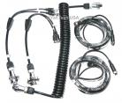 Two Camera Heavy Duty Weather Resistant Rear View Camera Trailer Cable & Receptacle Set With 5-Contact Plug and Socket (Two 32ft extended cables included)