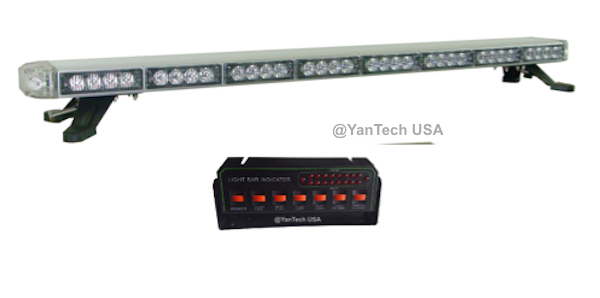 50 Quot Amber Led Light Bar Flashing Warning Construction Tow