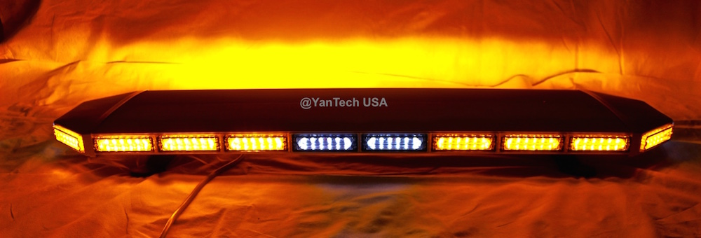 Amber Led Light Bar Flashing Warning Emergency