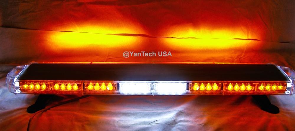Amber Led Light Bar Flashing Warning Emergency